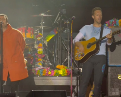 "VIDEO: Liam Gallagher se unió a Coldplay en vivo para interpretar ""Live Forever"" de Oasis"