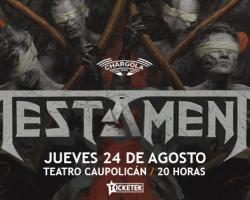 Testament y Nile estarán juntos en agosto para un show en el Teatro Caupolicán