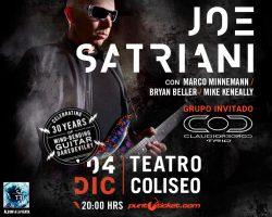 Claudio Cordero Trío abrirá show de Joe Satriani en Chile