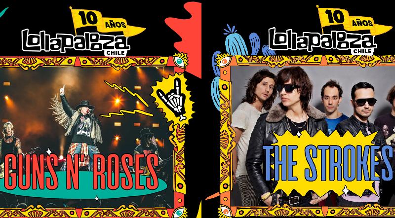 Guns N' Roses y The Strokes encabezan décima versión de Lollapalooza Chile