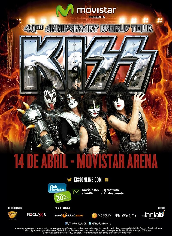 Detalles de la espectacular maquinaria que trae el concierto de Kiss a Chile