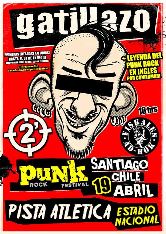 Marky Ramone, Fiskales Ad-Hok, 2 Minutos, Voodoo Glow Skulls y más animarán el Punk Rock Festival en Chile