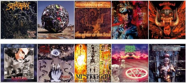 10 discazos que cumplen 20 años, los mejores discos de 1995 (Versión Metal)