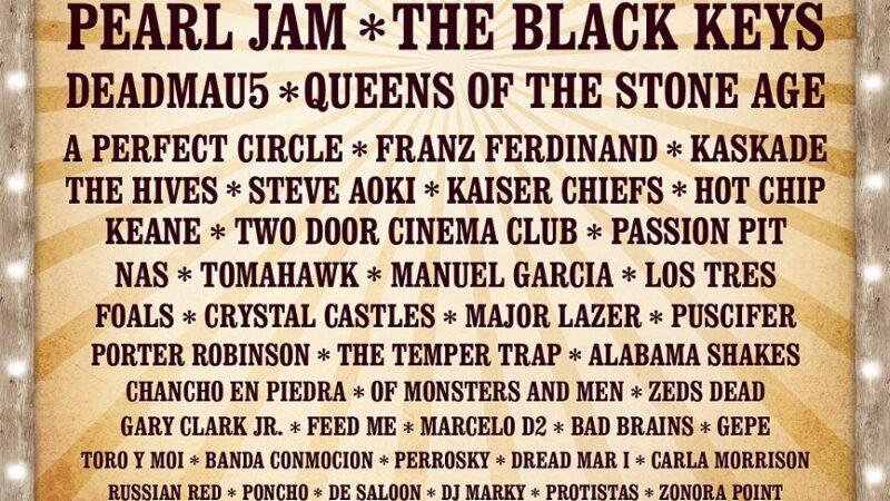 Revisa el lineup completo del Festival Lollapalooza Chile  2013