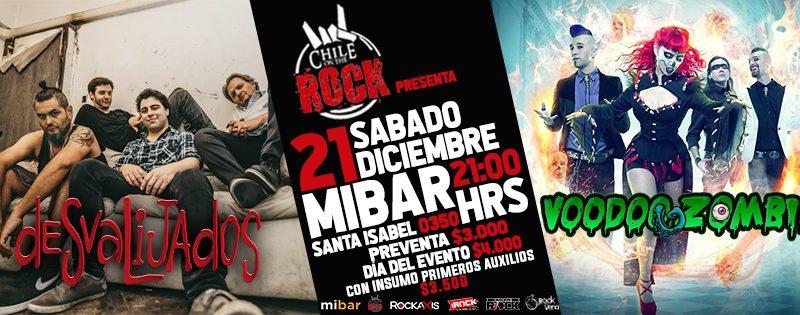 Chile On The Rock celebra sus 4 años con las bandas nacionales Voodoo Zombie y Desvalijados en vivo