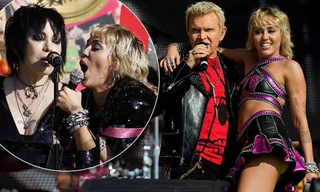 VIDEO: Miley Cyrus se presentó en el Superbowl 2021 junto a Billy Idol y Joan Jett