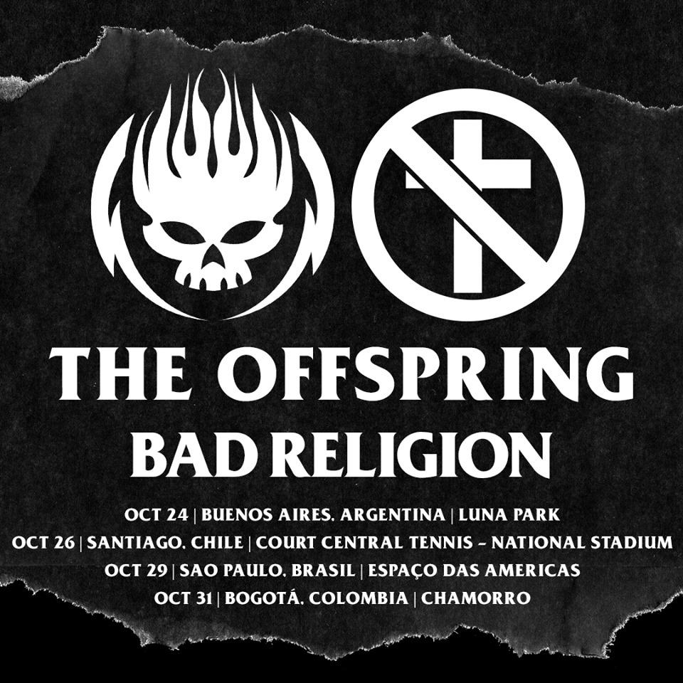 Confirmado: The Offspring y Bad Religion regresan juntos a Chile