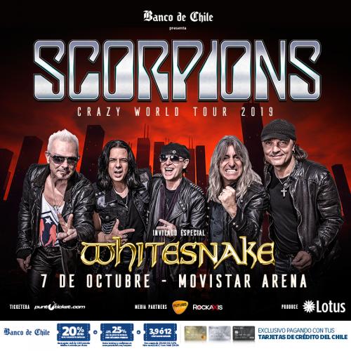 Confirmado: Scorpions y Whitesnake llegan juntos a Chile
