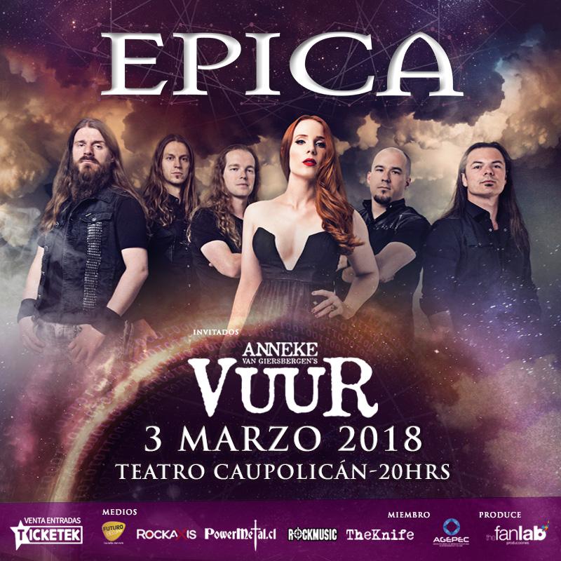Anneke Van Giersbergen y su nueva banda se suman al concierto de Epica en Chile