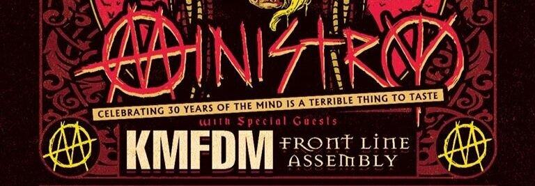 Ministry se embarca en gira con KMFDM y Front Line Assembly para celebrar los 30 años de uno de sus grandes clásicos