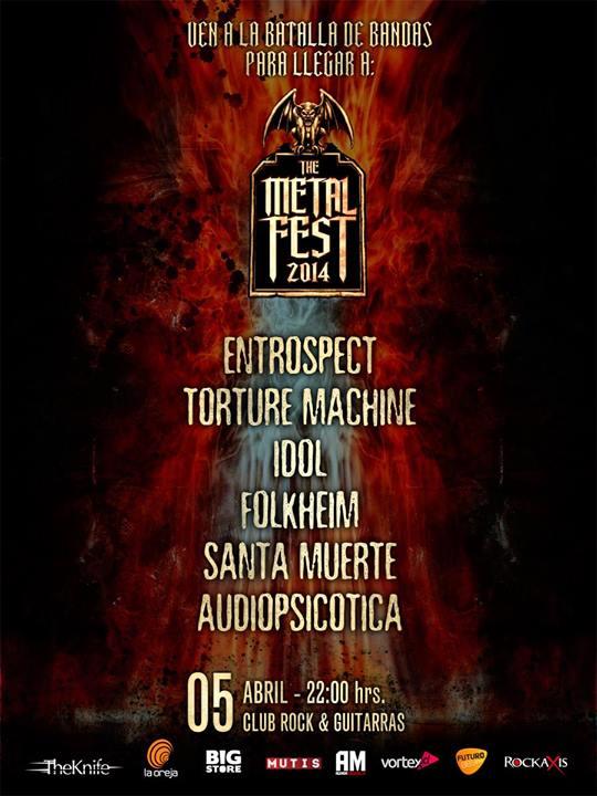 Batalla de bandas elegirá dos cupos nacionales más para el Metal Fest 2014