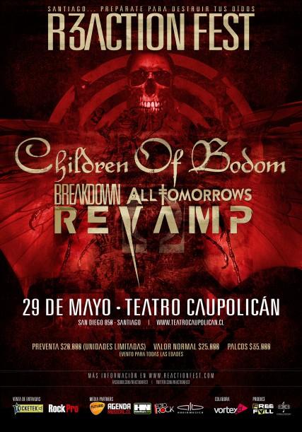 Children of Bodom encabeza nuevo festival en Chile: Reaction Fest