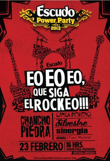 Chancho En Piedra + Camila Moreno + Silvestre y más en Escudo Power Party
