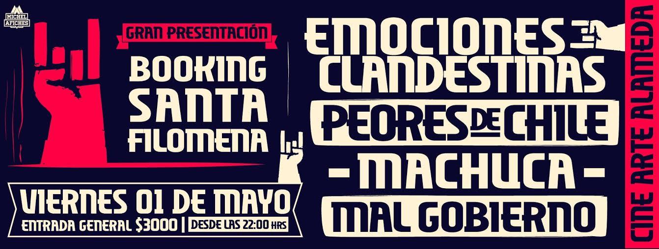 Machuca, Emociones Clandestinas,  Los Peores de Chile y más en vivo en lanzamiento de nueva agencia de artistas nacionales