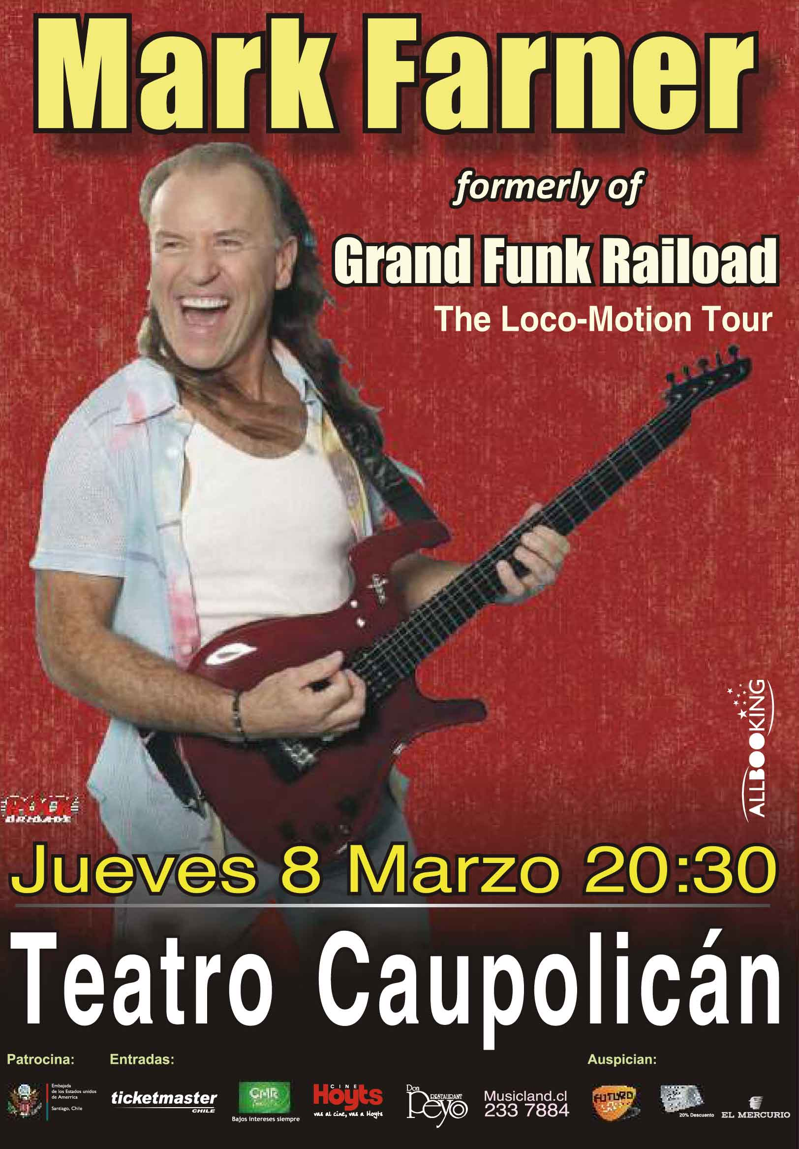 Mark Farner viene a Chile a revivir los más grandes éxitos de Grand Funk Railroad