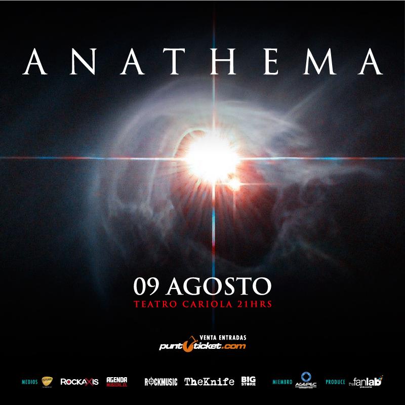 Anathema regresa a Chile en Agosto, revisa los valores y detalles