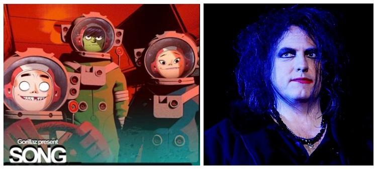"""""""Strange Timez"""": escucha el nuevo tema de Gorillaz con la colaboración de Robert Smith de The Cure"""