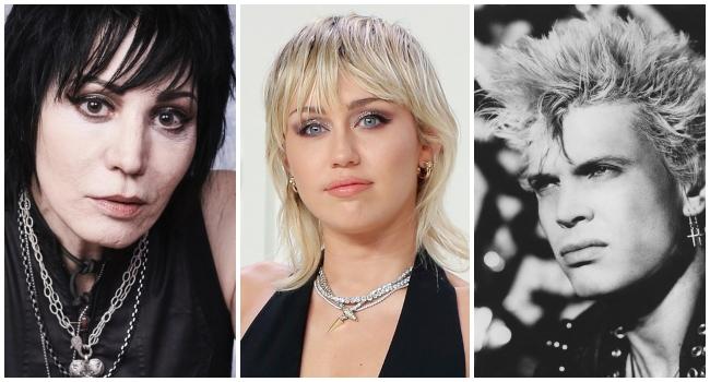 Joan Jett y Billy Idol aparecerán en el próximo álbum rockero de Miley Cyrus