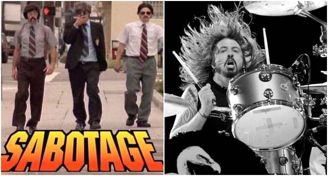 """VIDEO: Mira a Dave Grohl y Greg Kurstin haciendo la gran """"Sabotage"""" de Beastie Boys"""