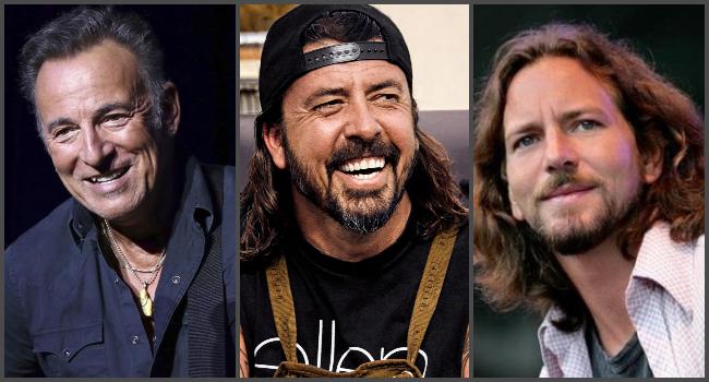 Conjunción de astros: Bruce Springsteen, Eddie Vedder y Dave Grohl se reunieron para hablar de sus vidas y el rock and roll