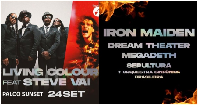 Desde Iron Maiden, Megadeth a Steve Vai y Living Colour: revisa los confirmados para Rock in Rio 2021