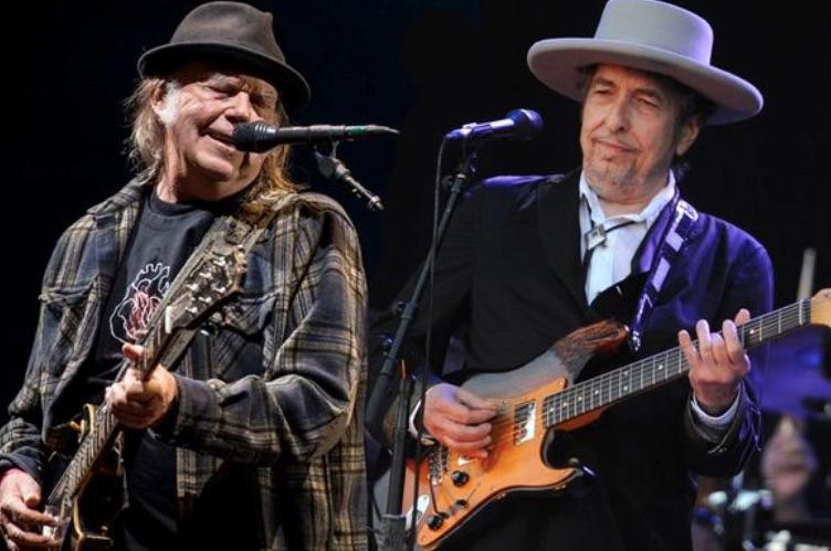Legendario: Bob Dylan y Neil Young compartieron escenario juntos por primera vez en 25 años