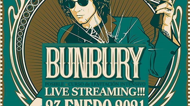 Bunbury presentará concierto vía streaming el 23 de enero