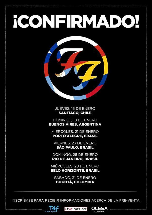 Confirmado: Foo Fighters regresa a Chile en enero de 2015