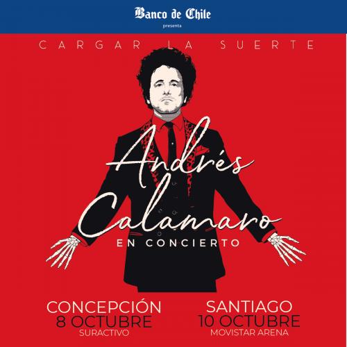 Andres Calamaro vuelve a Chile para realizar shows en Santiago y Concepción