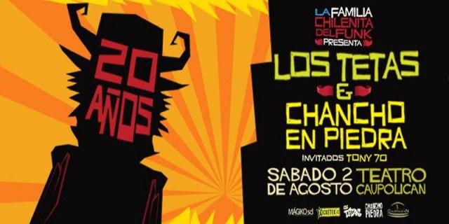 Los Tetas y Chancho en Piedra celebran sus 20 años de carrera juntos en show único