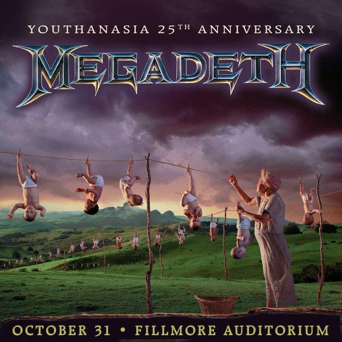 """Megadeth tocará completo su álbum """"Youthanasia"""" celebrando sus 25 años"""
