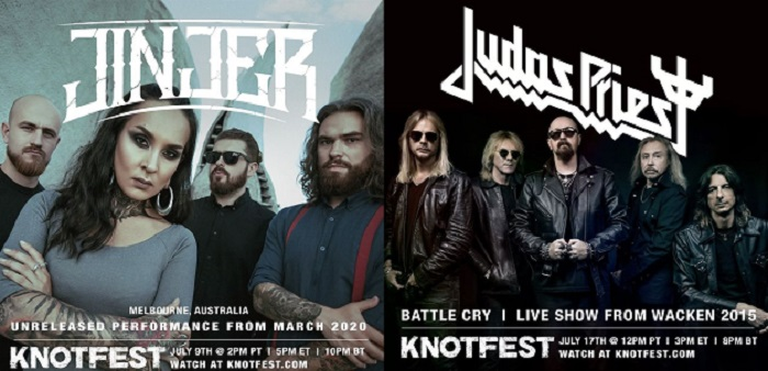 Knotfest transmitirá shows completos de Judas Priest y Jinjer