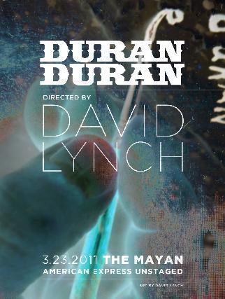 Se estrenará película de Duran Duran realizada por David Lynch