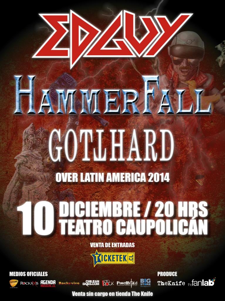 Concurso: Gana Meet and Greets con Hammerfall y Edguy en Chile