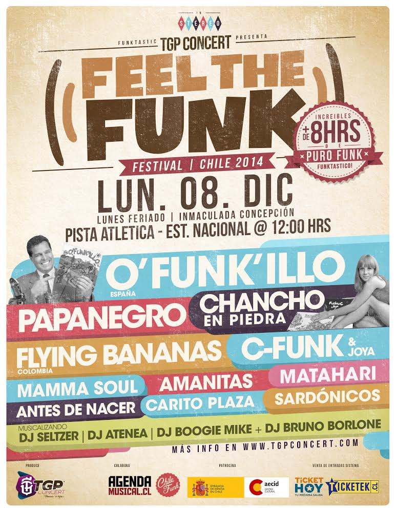 Festival Feel The Funk congregará cumbre de bandas funk nacionales e internacionales