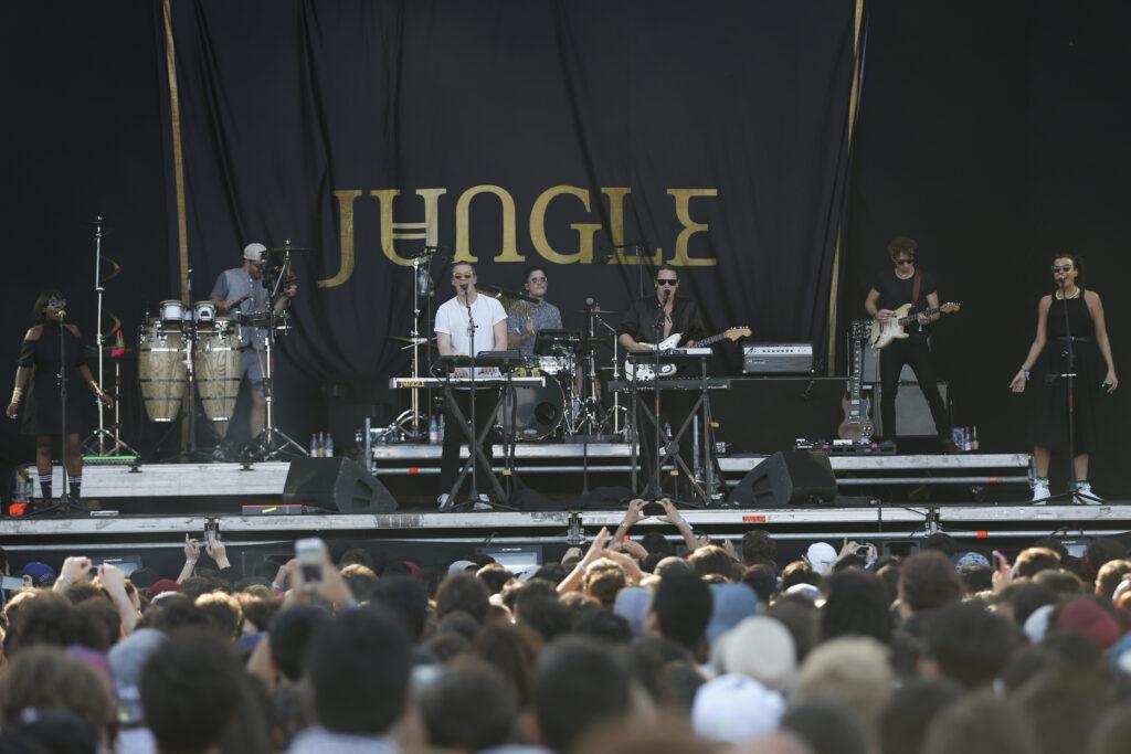 Lollapalooza 2016 Parque O«Higgins, Santiago, Chile. Escenario: VTR Banda: Jungle (Gabriel Rossi/Getty Images/Lotus Producciones)