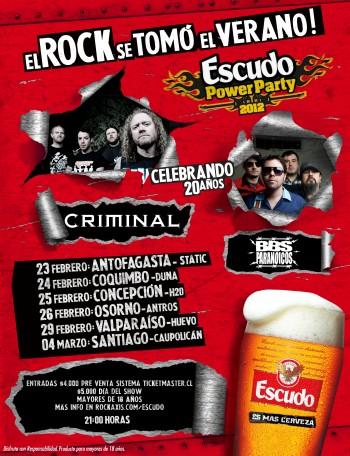 Criminal y BB's Paranoicos de gira por Chile
