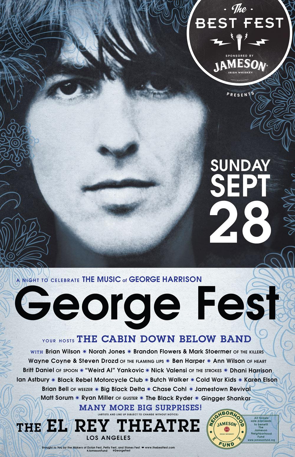 Miembros de The Strokes, Weezer, BRMC y muchos más realizarán concierto de homenaje a George Harrison