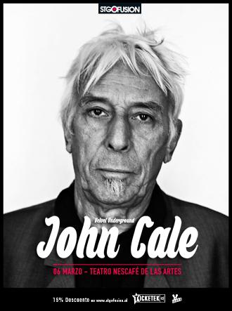 El ex- Velvet Underground John Cale confirma concierto en Chile para 2016