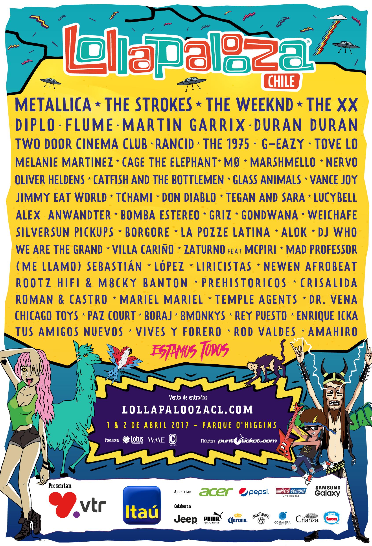 Festival Lollapalooza Chile 2017 anuncia sus horarios por día