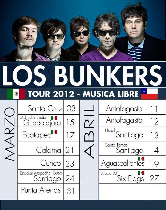 Los Bunkers anuncian fechas para gira por Chile y México