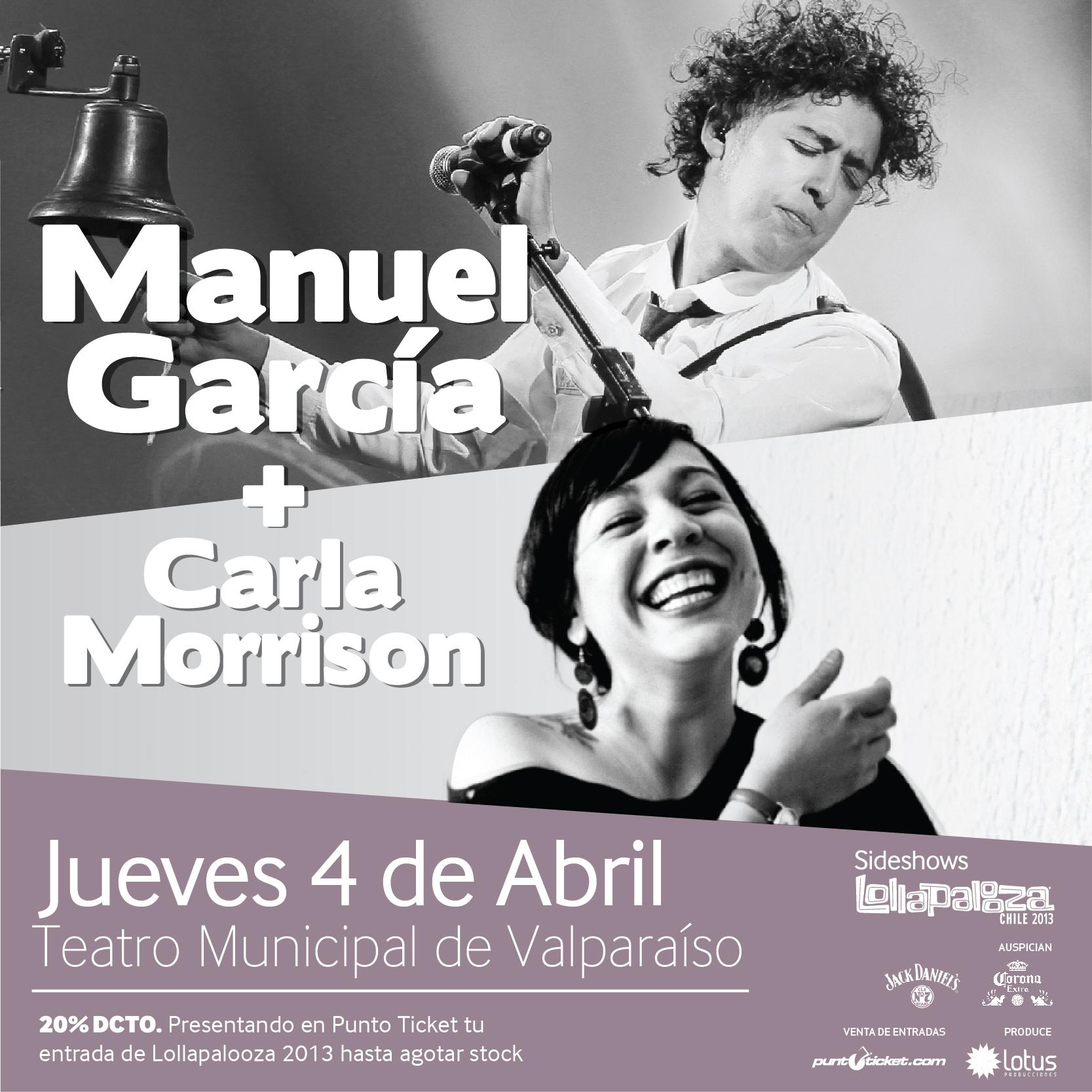 Lollapalooza anuncia nuevo sideshow: Manuel García + Carla Morrison