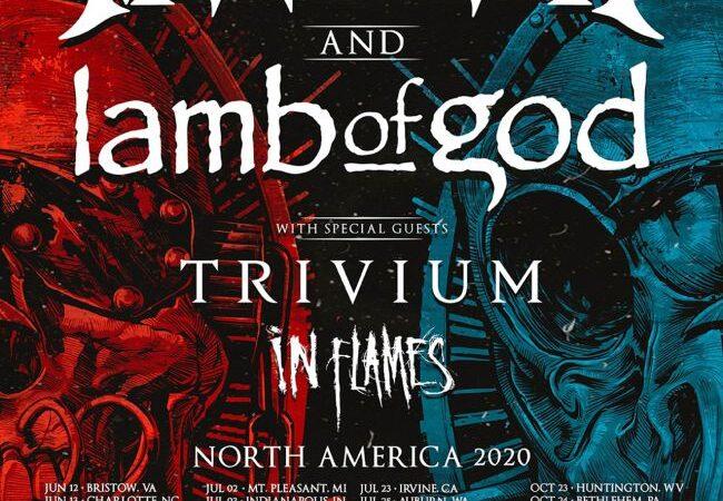 Megadeth, Lamb of God, Trivium e In Flames anuncian masivo tour juntos