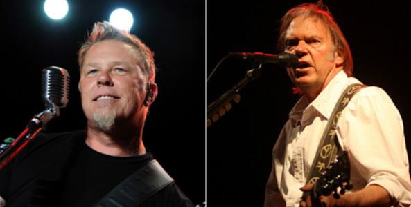 VIDEO: Metallica compartió escena con Neil Young y cubrió un clásico de The Clash