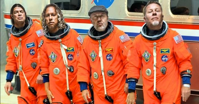 Metallica quiere ser la primera banda de rock que toque en el espacio
