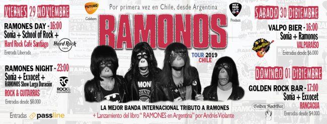 Preparan tres días de fiesta en homenaje a Ramones con bandas chilenas y argentinas