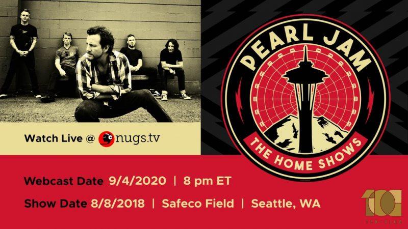 """Pearl Jam transmitirá completo su gran concierto """"Home Show"""" en Seattle en septiembre"""