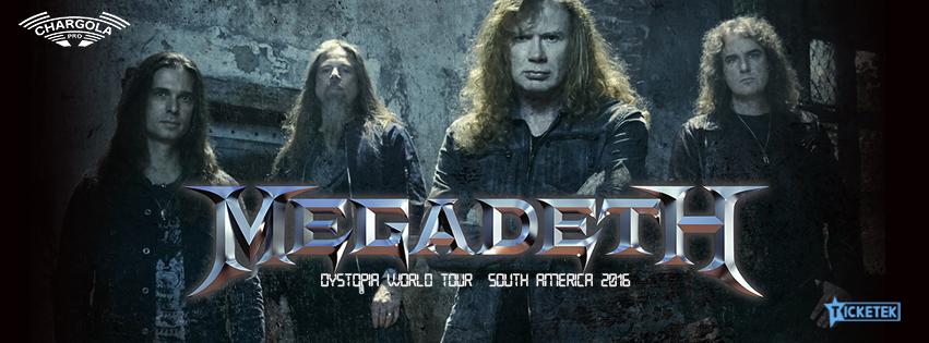 """Megadeth llega a Chile para presentar su álbum """"Dystopia"""" en agosto"""