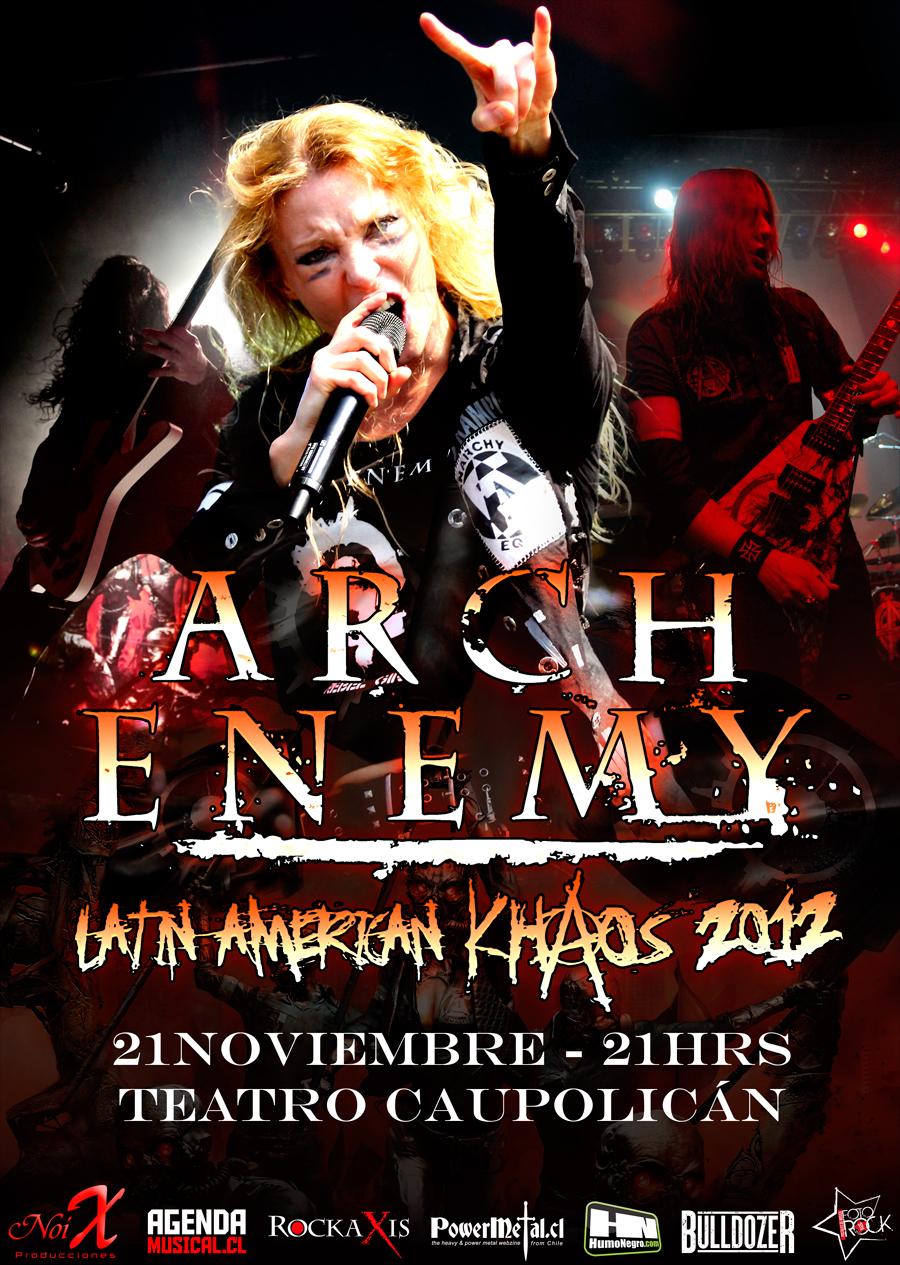Arch Enemy en Chile, revisa toda info: