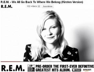 R.E.M. presenta nuevo video junto a Kirsten Dunst
